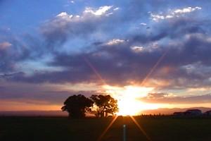 Sunset sky drive